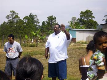 Pastor Ron in Open crusade