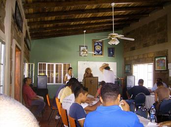 Pastor Roxy teach at Drug Rehab