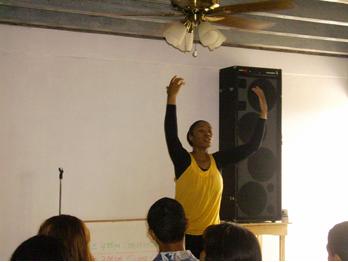 Tamra dances